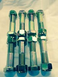 Hex Cap Screw Bolt 1x5 Grade 8 Set Of 8 With Self Locking Nuts. 4 Link