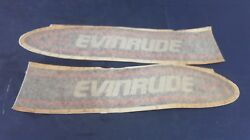 Evinrude Omc 283751 Side Motor Cover Decal Set 9.9 Hp 1989-1991 - Nos