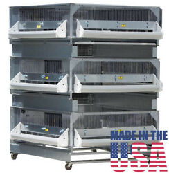 Brooder And 2 Expanded Grow Pens Gqf 0703 - American Made Brooders And Grow Off Pens