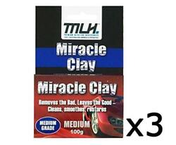 Mlh Miracle Clay Cleaning Block Medium Grade 100g 3 Pack Detailing Restore Clean