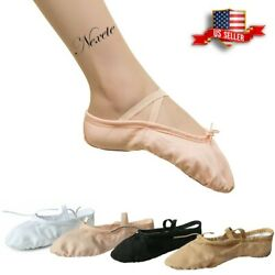 Toddler Girl And Adult Ballet Dance Slipper Split-sole Classic 2 Canvas Shoes
