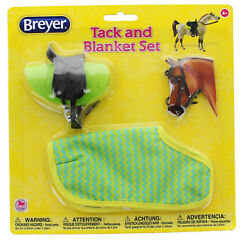 Breyer 1:12 Classic Model Horse Tack and Blanket Set Green & Yellow