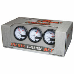 Maxtow 52mm White Double Vision Diesel Gauges - 60 Boost, 1500 Pyrometer And Trans