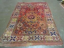5' X7' Antique Hand Made Turkish West Anatolian Bergama Wool Rug Collectible 70