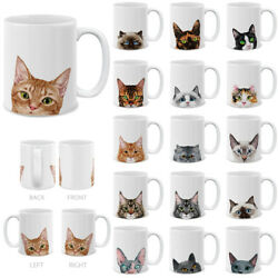 11 OZ Cat Design Ceramic Travel Mug Home Water Tea Coffee Cup For Gifts