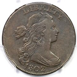 1802 S-238 R4 Pcgs Vf30 Draped Bust Large Cent Coin 1c