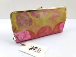 NWT HOBO Lauren Large Wallet Clutch Leather Sunrise Floral Free Shipping