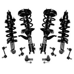 2002-2006 Honda CR-V Front & Rear Complete Spring Struts Sway Bars and Tie Rods