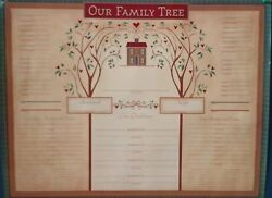 quot; Our Family Tree quot; Family Tree Charts Genealogy 17quot; x 22quot; 4 Pack NIP