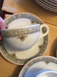 1920 Epiag Czechoslovakia L. Barth And Co Andldquoqueenandrdquo 9.5 Dinner Plate Cup And Saucer