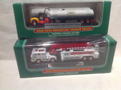 Hess Miniatures-2004 Tanker And 2010 Fire Truck-brand New