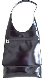 NWT GUCCI Black Leather Vintage Designer Fashion Shoulder Handbag Purse Hobo Bag
