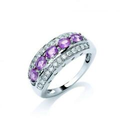 18ct White Gold Diamond 0.31ct And Pink Sapphire 1.25ct Ring