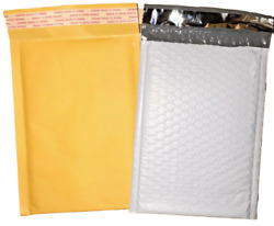 Kraft Or Tuff Bubble Mailers Choose Size And Quantity 1- 3000 Available 0 4x7 Cd