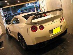 Am Style Half Carbon Rear Wing Spoiler Fit For Nissan 08-17 Gt-r Gtr R35 Amuse