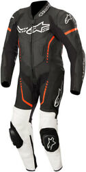 Alpinestars Youth Gp Plus Cup Leather Riding Suit Black/white/fluo Red
