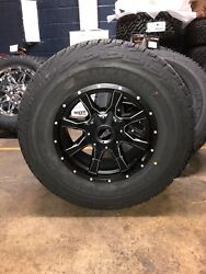 Mo970 17x9 Black Milled Wheels Rims At Tires Package 6x5.5 Chevy Gmc Toyota