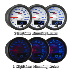 Maxtow 52mm White And Blue Double Vision 35 Psi Boost Gauge - Mt-wbdv01_35
