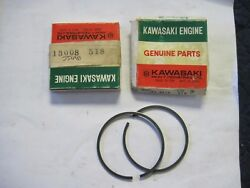 New Nos Oem Kawasaki Pair Piston Ring Sets 2 Js Js400 Jet Ski 1976