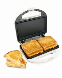 White Sandwich Toaster Grill Press Toast Maker Nonstick Electric Easy Home New