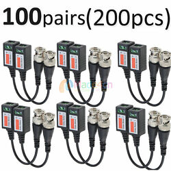 100 Pairs -md45 Cctv Camera Passive Video Balun Bnc Twisted Pair Connector Cable