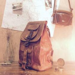 Men Bag Laptop Shoulder Messenger Leather Satchel Leather School Vintage Backpak $55.46