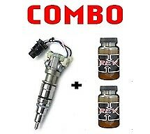 8x Reman 190cc Injectors + 2 Rev-x Oil For 03-07 Ford 6.0l- 600 Core Required
