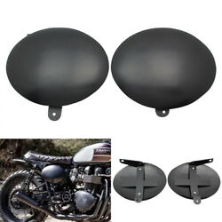 Black Battery Side Cover For Triumph Thruxton 900 Bonneville T100/ Se 2006-2016