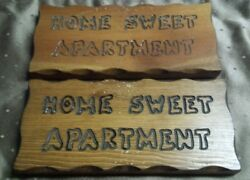 Wood Hanging Wall Plaque