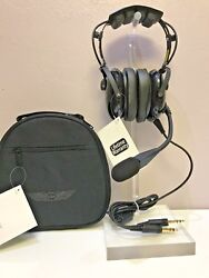 Asa Air Classics Hs-1a General Aviation Headset And Case Combo Lifetime Warranty
