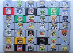*GOOD* (A-H ALPHABETICAL LIST) Nintendo 64 N64 Games Authentic Tested Selection