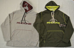 AND1 Men's Sunrise Player Pull Over Hoodie*Large Color:CementOD Green*New