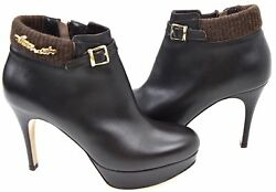Twin-set Woman Ankle Boots Booties Winter Leather Code A1/c/c82020 Defect
