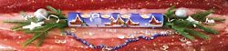 Candle Holders Blue Christmas Decoration Glass Tea Light Hand Painted Advent Wow