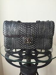 Chanel Metallic Python Snakeskin Classic Bag. With Authenticity Card and Box !!!