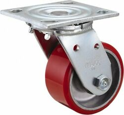 Value Collection 4 Diam X 2 Wide X 5-5/8 Oah Top Plate Mount Swivel Caster...