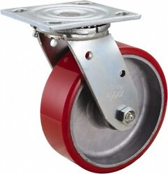Value Collection 6 Diam X 2 Wide X 7-1/2 Oah Top Plate Mount Swivel Caster...