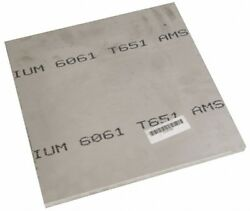 Value Collection 1 Inch Thick X 8 Inch Wide X 8 Inch Long, Aluminum Plate All...