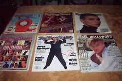 6 Vintage Rolling Stone Magazines From 1990's Vg Condition Cheap No Reserve