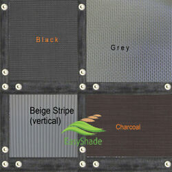 Easyshade Heavy Duty Mesh Fabric Edges And Grommets Shade For Patio Canopy Awning
