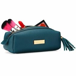 Small Makeup Bag YM&COCO Cosmetic Bag for Purse Leather Makeup Pouch Handy with