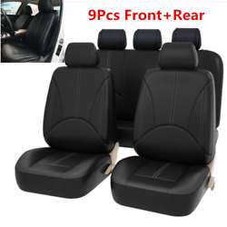9pcs Luxury Leather Car Seat Covers Universal Seat Cushion Cover Car Accessories