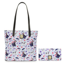 Brand New Disney Dooney & Bourke Mary Poppins Tote Bag Purse and Wallet Combo