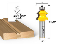 Bevel And Bead Wainscoting Router Bit - 1/2 Shank - Yonico 13111