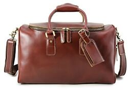 Valentines Men Leather Travel Duffel Bag Weekend Carry On Luggage Shoulder Bags