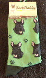 Scottish Terrier Dog Breed Lightweight Stretch Cotton Adult Socks