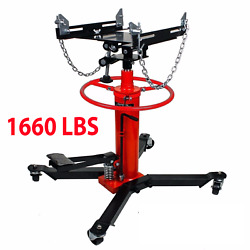 1660lbs Transmission Jack 2 Stage Hydraulic W/ 360anddeg For Engine Lift