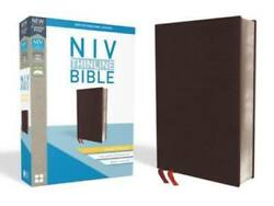Niv, Thinline Bible, Giant Print, Bonded Leather, Burgundy, Indexed, Red Letter
