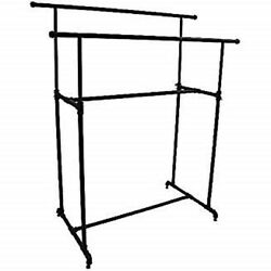 Only Hangers Retail Industrial Garment Clothes Display Double Rack Black