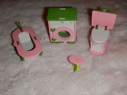 Andnbspwooden Doll House Miniature 7 Set Furniture Set Family Role Play Toys Gift